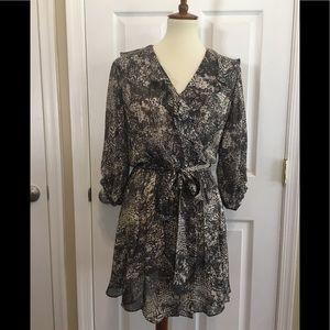 Rachel Zoe Grey Tie Front Dress Size 2